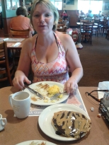 Louise's idea of a perfect US breakfast