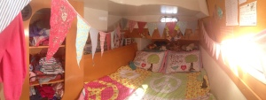 The Girls' Bunk looking all homely!