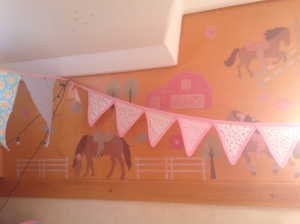 Wall stickers expertly placed by Eleanor