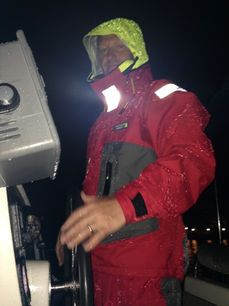 Zero Dark Thirty - setting off to catch the 0300 opening of the 17th Causeway Bridge coming out of the Inter-Coastal Waterway from Fort Lauderdale. A dodgy forecast, dressed in full oilies and some particularly unwelcome rain - not quite how we envisaged the beginning.of our journey.