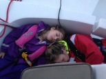 Ah, the soporific effects of a rocking (ok crashing boat!), fresh sea air and lots of stugeron!