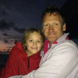 At sunrise - Hannah eventually emerged for a warm cuddle.