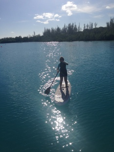 Starting my next decade with a spot of paddle boarding.