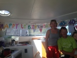 Birthday banner courtesy of Hannah Taylor.