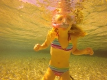Hannah gaining confidence with her snorkel.