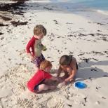 Sand play.