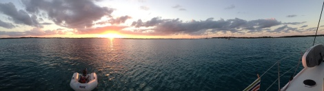 Sun set at Georgetown