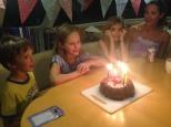 Birthday with Taia - Camila and Matias with mum Natalia