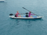 Siera and Eleanor kayaking