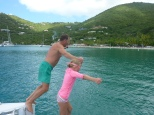 Jumping in and swimming ashore