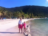 Hannay and Granny on Cane Garden Bay