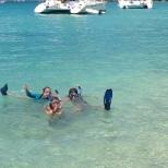 Snorkelling fun.