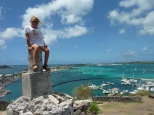 Perched up high at Fort Louis.