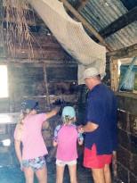 Exploring Calypso's house.