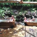 The cold baths!