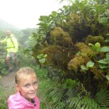 Hannah at Mount Pelee.