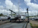 Haul out day at Grenada Marine