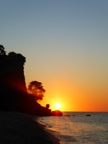 Sunset at beautiful Magazine Beach