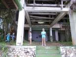 The ruined resort on Navy Island.
