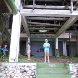 The ruined resort on Navy Island.