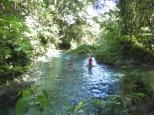 Exploring upstream.