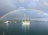 Hannah's lovely shot of the rainbow.