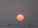 Now that's a sunset. Kissing the sea........
