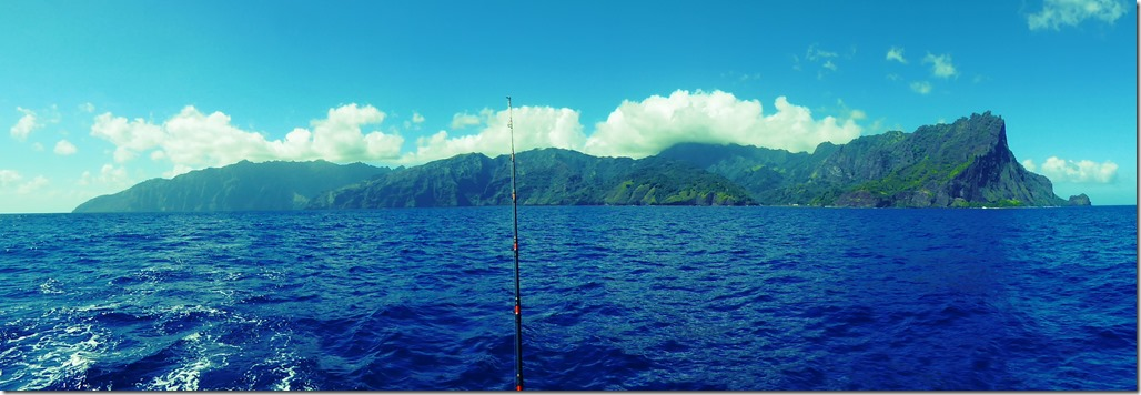 Heading out. Faku Hiva from the SW