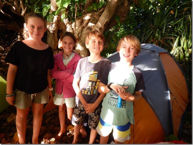 Camping ashore